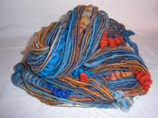 handgefärbter Kammzug, coils