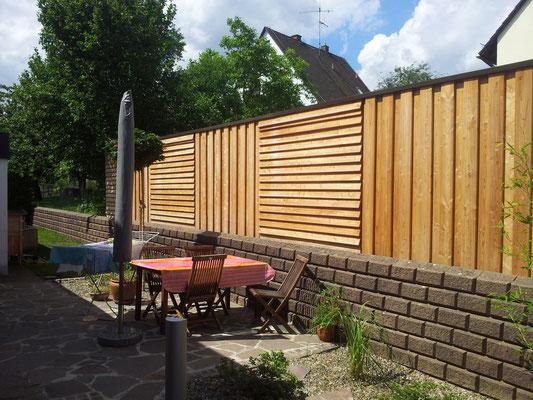 Holzwand Gartengestaltung Rübner Schwabach