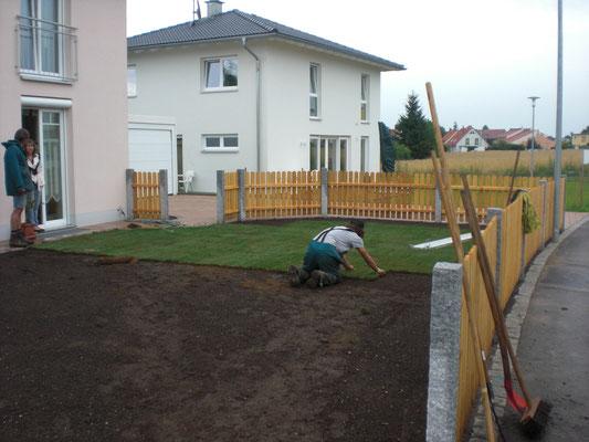 Holz Zaun Gartengestaltung Rübner Schwabach