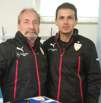 mit VfB-Physio-Legende Gerhard Egger