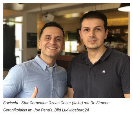 mit Star-Comedian Özcan Cosar