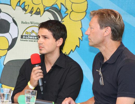 mit Interviewpartner Guido Buchwald