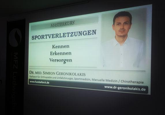 """MasterKurs """"Sportverletzungen - Kennen, Erkennen, Versorgen"""""""