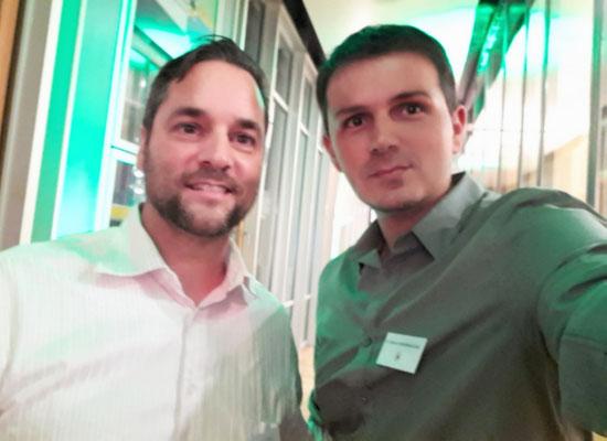 Bei der DFB Medizinertagung mit DFB-Physio Marc Grzebellus