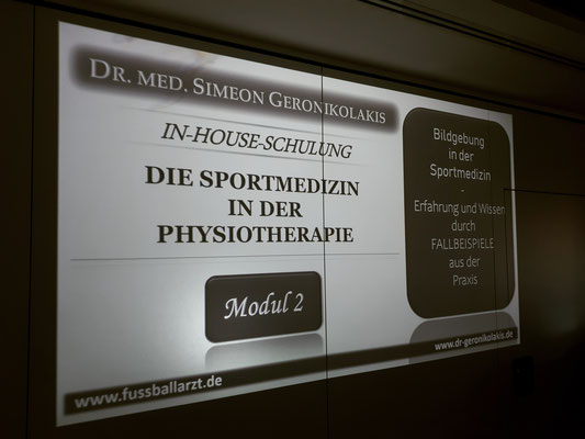 "In-House-Schulung ""Die Sportmedizin in der Physiotherapie"""