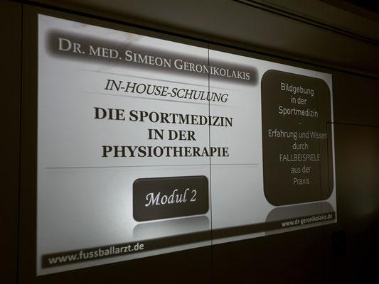 """In-House-Schulung """"Die Sportmedizin in der Physiotherapie"""""""