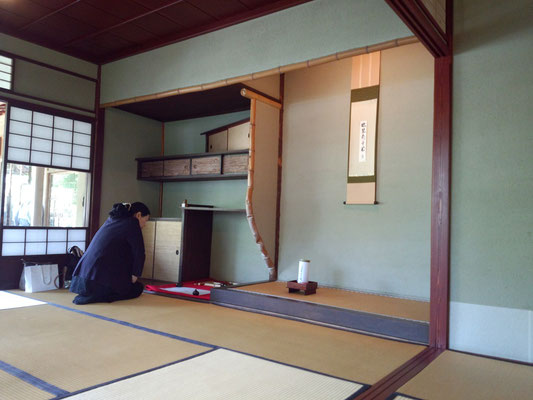 金沢21世紀美術館の茶室「松涛庵」の待合。
