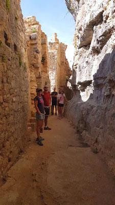 intérieur du château des Anglais