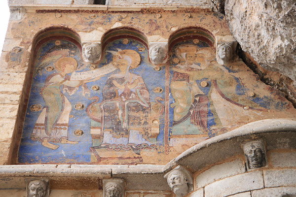 La fresque de l'Annonciation et de la Visitation, chapelle St-Michel à Rocamadour