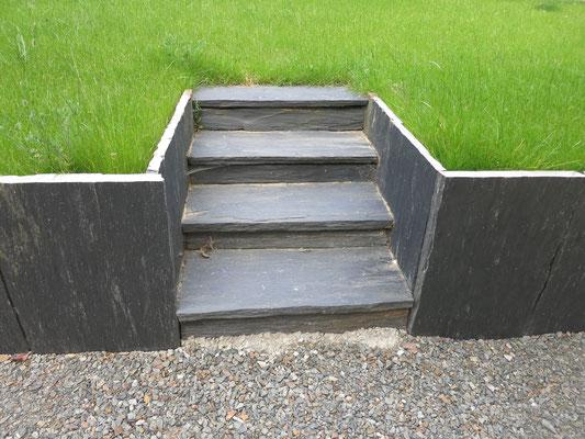 escalier en ardoise paysagiste 35140 Ille et Vilaine