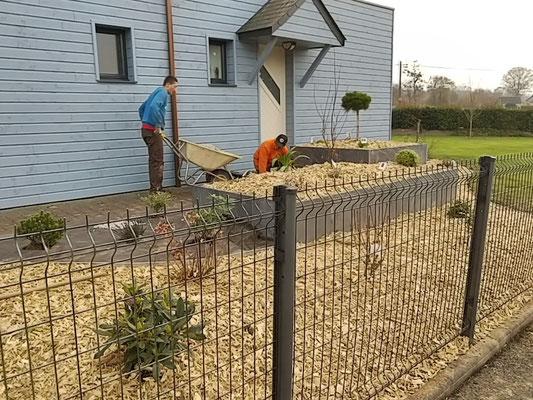 clôture panneaux rigides 35140 Saint Jean sur Couesnon