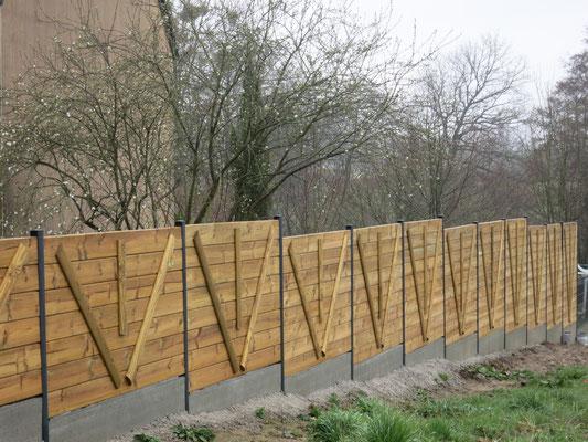 clôture panneaux bois paysagiste 35140 Saint-Aubin-du-Cormier