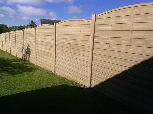clôture béton imitation bois 35140 Gosné