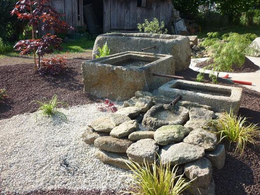 fontaine granite Paysagiste Vitré