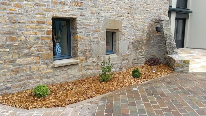 paillage sol en copeaux de bois 35140 Saint Aubin du Cormier