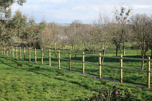 clôture équestre bois paysagiste saint aubin du cormier