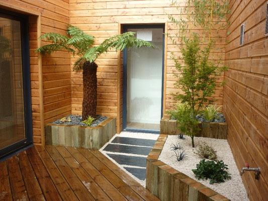 aménagement patio Paysagiste Fougères