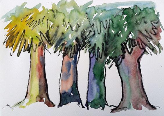 YOGA Retreat Malerei Qi Gong  Angebote für Gruppen auf Eiderstedt mit Lafrentz / Höppner