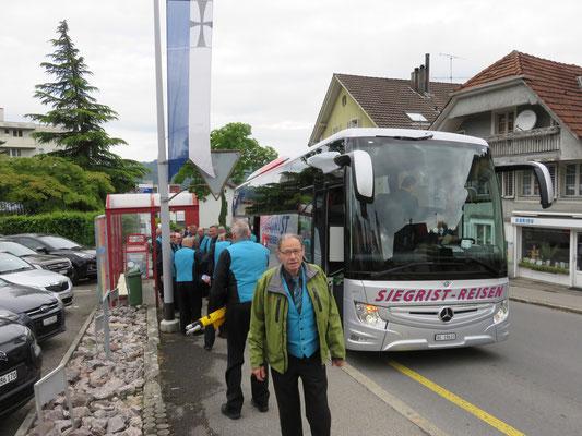 Ankunft in Hitzkirch mir Siegristreisen