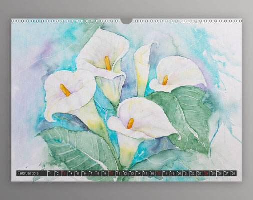 Calla in Aquarell
