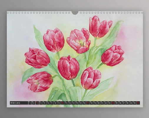 Tulpen in Aquarell