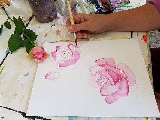 Malen lernen im Kurs