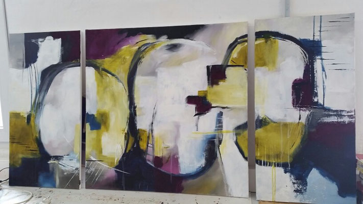 Triptychon, Acrylmalerei