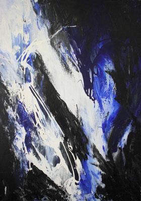 """Acrylbild auf Leinwand, """"Nachts"""" 40 cm x 60 cm"""