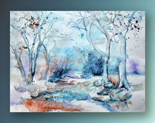 Aquarellbild Dezember