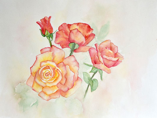 "Rosen in Aquarell. ""Blumenbilder in Aquarell""  Kalender 2019  Sylwia Mesch"