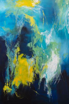 """""""Symphonie in Blau 2"""", Abstrakt auf Leinwand, 90 cm x 110 cm"""
