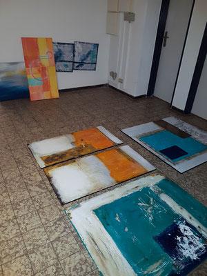 Verschiedene Techniken in der Acrylmalerei