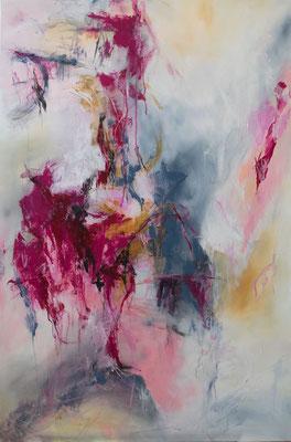 """""""Ein Stück Glück"""", Abstrakt auf Leinwand, 90 cm x 110 cm"""