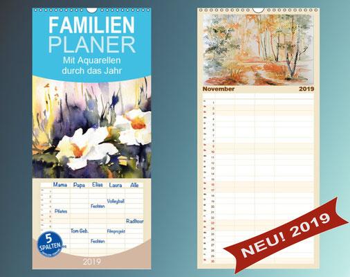 Aquarellkalender, Familienplaner