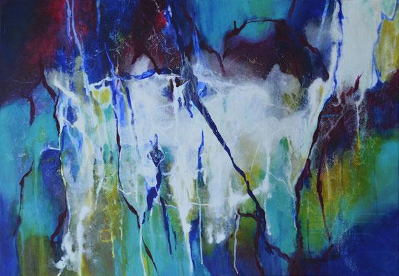 """Acrylbild auf Leinwand, """"Tropfsteinhülle"""" 80 cm x 100 cm"""