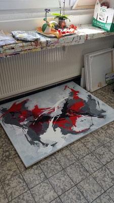 Abstrakt mit 3 Farben
