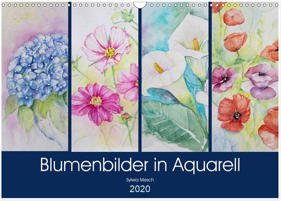 Aquarellkalender Blumenbilder