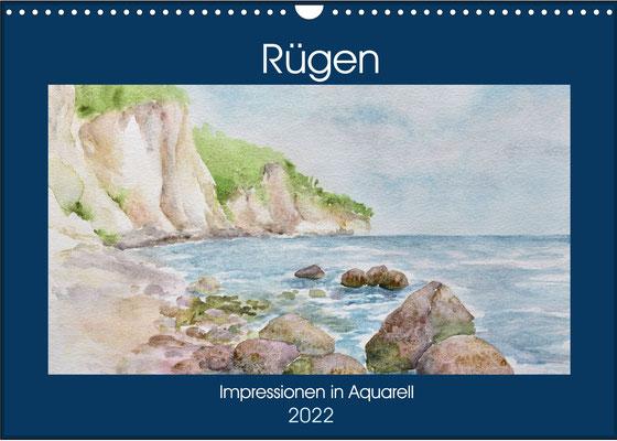 Aquarellkalender 2022, Rügen, Impressionen in Aquarell