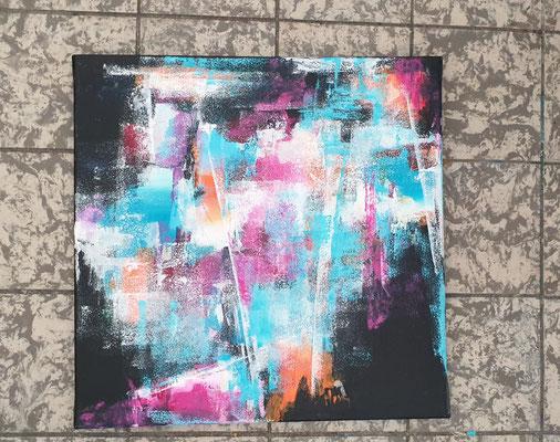 Malen auf schwarzen Hintergrund