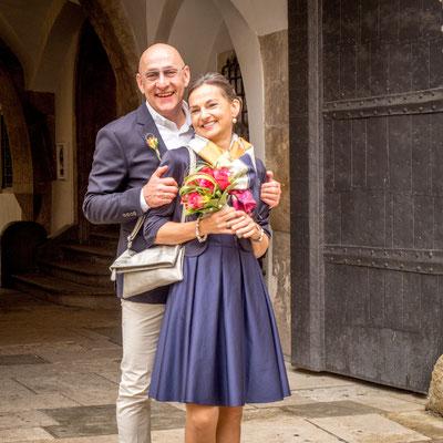 Hochzeitsshooting im alten Rathaus Regensburg  fotografiert von Das Fotoatelier Regensburg - Fotograf Regensburg