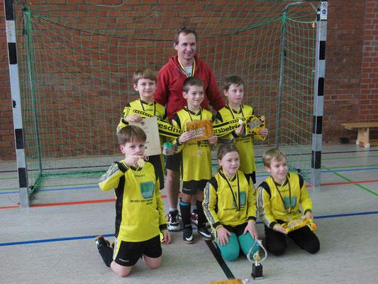 2.Platz beim Neujahrsturnier 2017 für F-Junioren bei der SV Sachsenwerk in der Margonarena