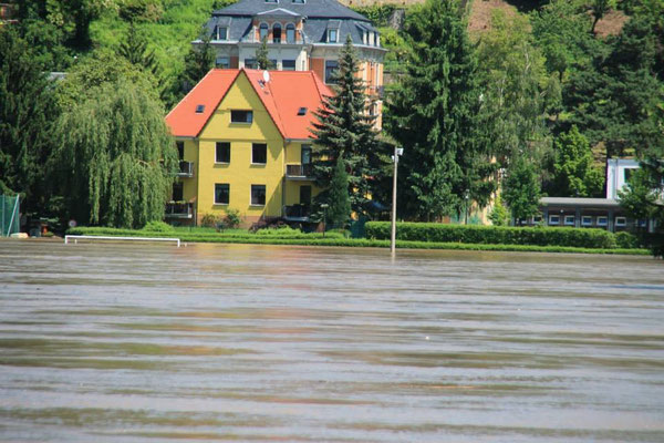 Der Höhepunkt des Hochwassers im Juni 2013