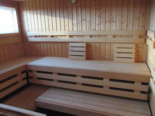 kleine Sauna im Sozialgebäude