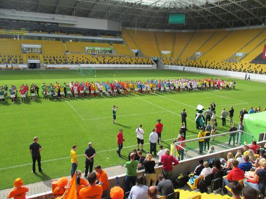 Euro 2016-Turnier für  C-Junioren im Dynamostadion (12.Juni 2016)
