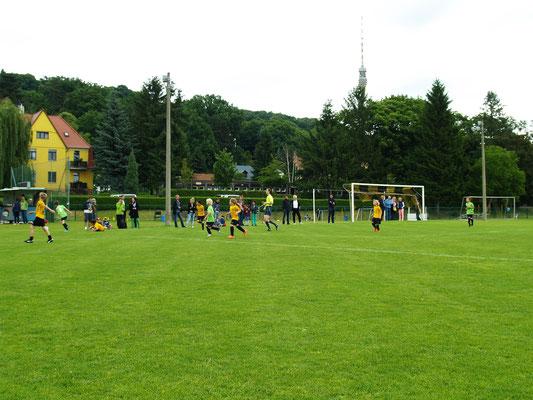 Fußballkleinfeldspiel  F-Mannschaft Juni 2014
