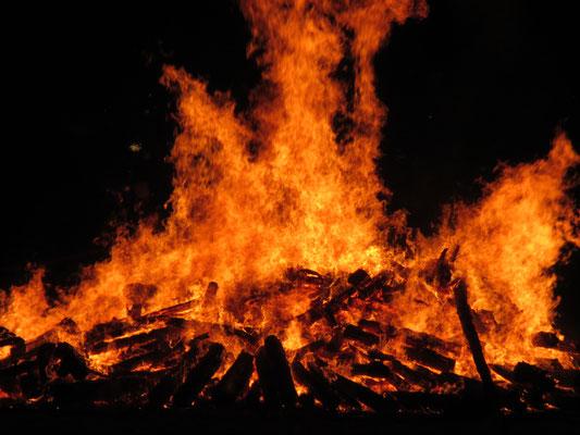 Lagerfeuer zur 700 Jahrfeier Loschwitz
