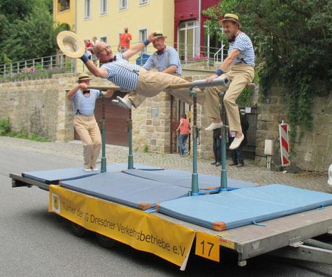 Turner zum Elbhangfestumzug 2015
