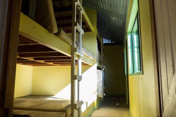 Einer der zwei Betten Bunker.