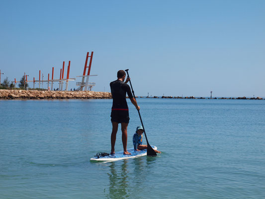 Stand Up Paddling Enno und Holly