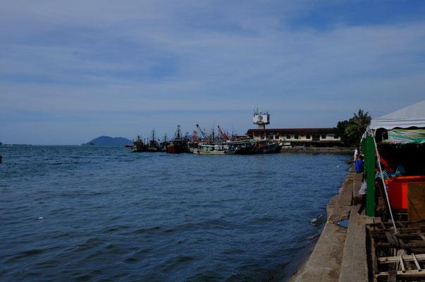 der Hafen von Kota Kinabalu